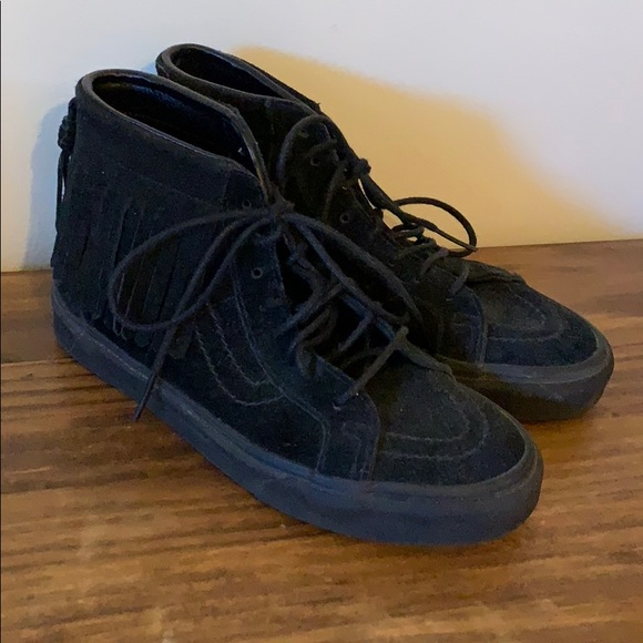 b21b749cdd Vans moccasins black suede fringe sneakers 8. M 5bf8438d6a0bb7319a6d5a0d